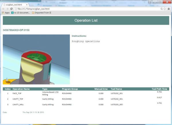 Documentatie program NC pentru operatorul CNC